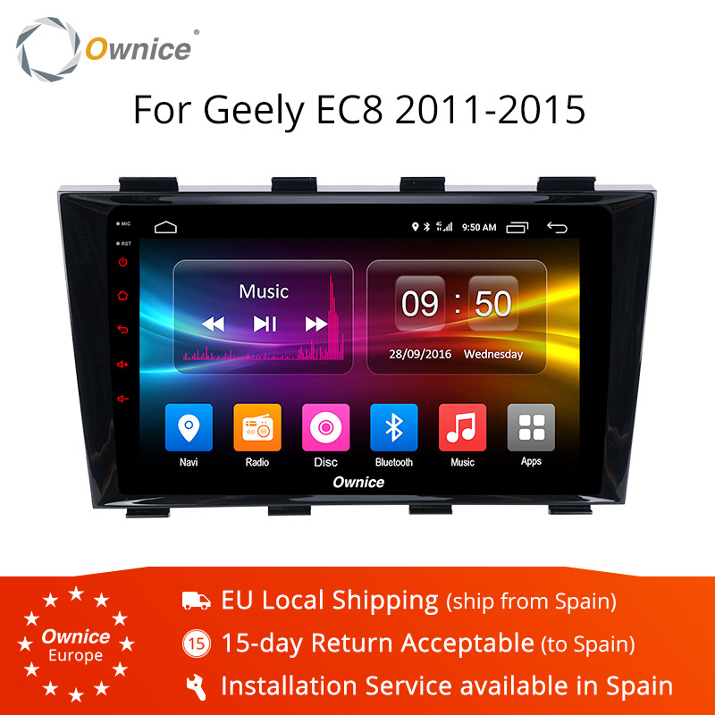 Ownice K1 K2 K3 Android 9.0 Octa Core double din car audio unit Radio player for Geely EC8 2011-2015 Support DAB+ TPMS Carplay