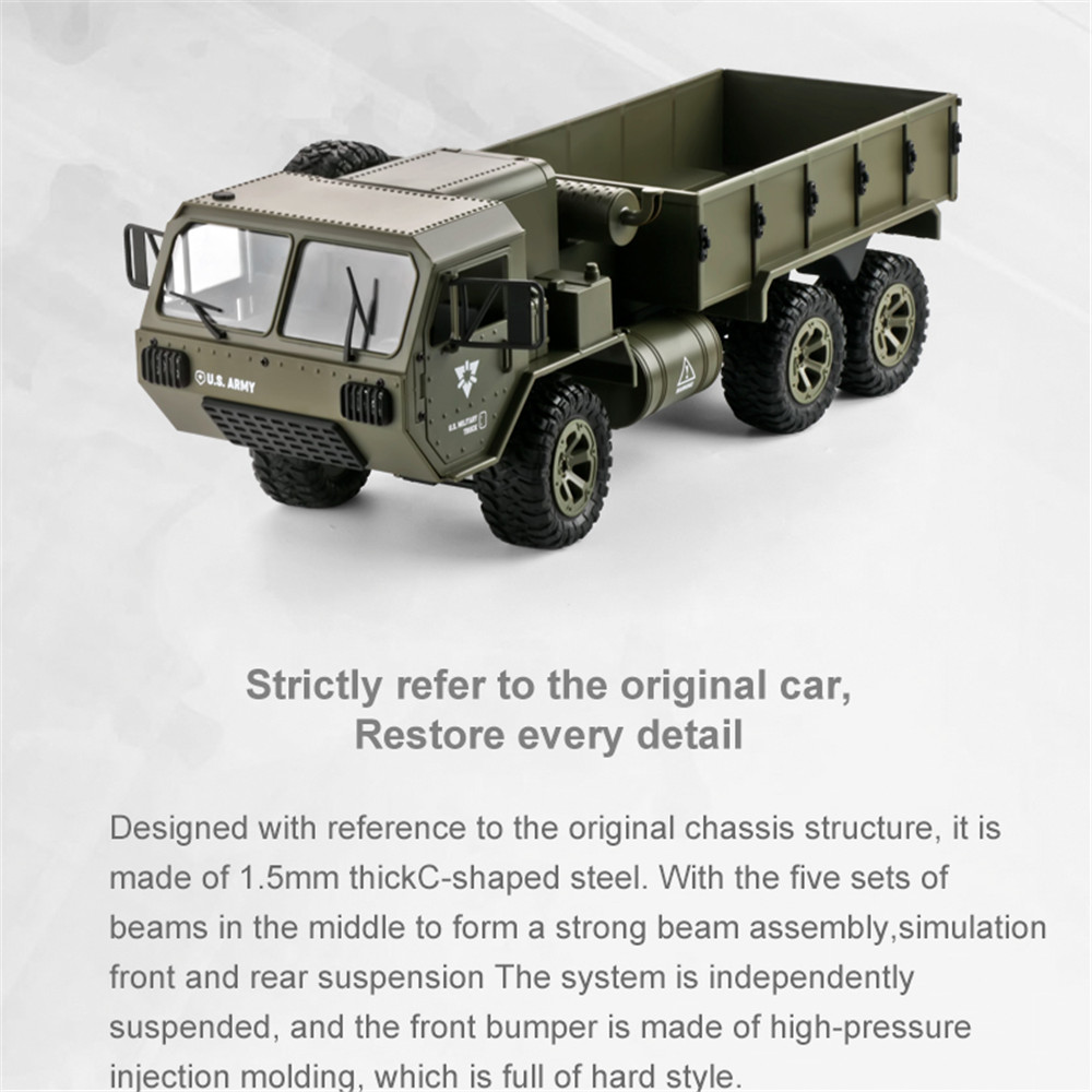 Image 3 - RC Trucks Remote Control Toys Six drive military card metal DIY modified model car 2.4G ABS/alloy army green kids children toy-in RC Trucks from Toys & Hobbies