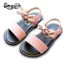 Kids Shoes Baby Girls Sandals New Arrival Summer Children Bow Sandals Toddler Leather Sandals Sweet Princess Dress Party Shoes 2017 summer girls sandals children princess shoes for party wedding dress dance kids toddler shoes baby flat sandals