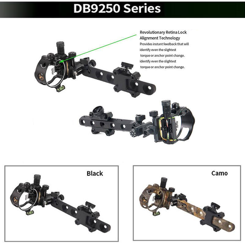 Image 4 - Archery Compound Bow Sight DB Series Retina Micro Adjust Sight 0.019 Fiber Optic 5 pins /7 pins Hunting Shooting Accessories-in Bow & Arrow from Sports & Entertainment