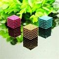O Envio gratuito de Venda Quente 216 pcs 3mm bolas magnéticas de neodímio Bloco Ímã Cubo Neo Cube Magic Puzzle brinquedo DIY Embalagem a vácuo