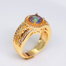 Hot Zircon Diamond Close Ring for Women 14K Rose Gold Inlaid Fashion Colorful Stone All Size Jewelry Hand pieces