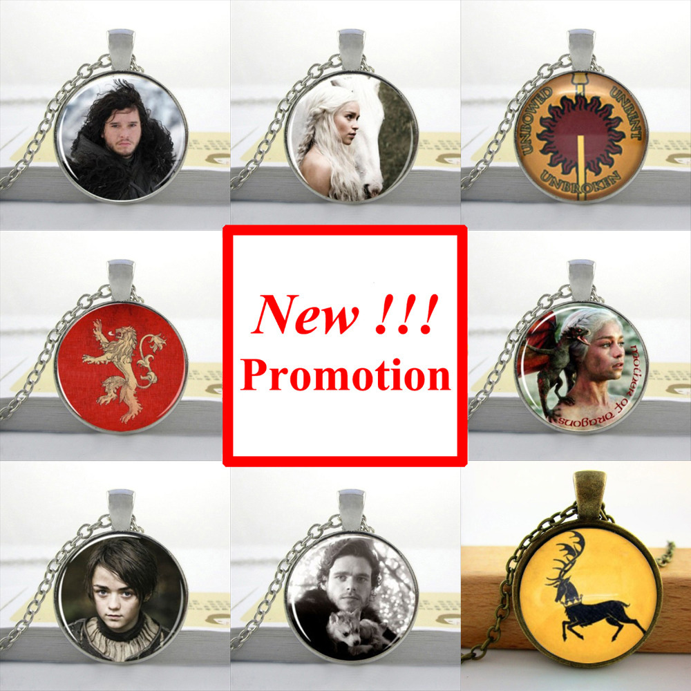 2017 New Fashion Game Of Thrones Pendant Jon Snow Necklace Winter Is Coming Jewelry Man Fashion Bronze Pendant Necklace