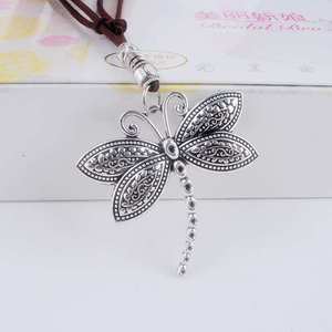 Maxi necklace collier women jewelry collares Vintage necklaces Butterfly Dragonfly pendants Love choker Women Leather Necklace(China)