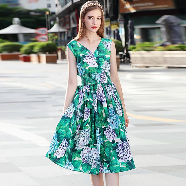Sexy Print Sleeveless Vest Dress