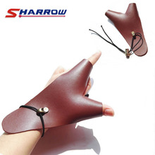 1 Piece Archery Finger Guard Protect Protection Tool Leather Left Hand Brown Accessory