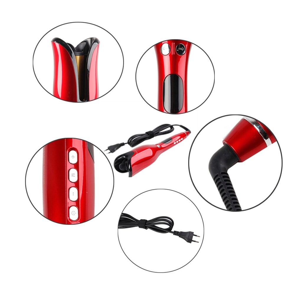 Professional Automatic Curling Iron Air Curler Wand Curl Rotating Magic Hair Curling Iron Salon Tools Titanium Auto Hair Curler