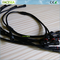 50pcs 4Pin 40cm 1 Male To 2 Female Splitter 4 Pin Waterproof Connector Cable For LED