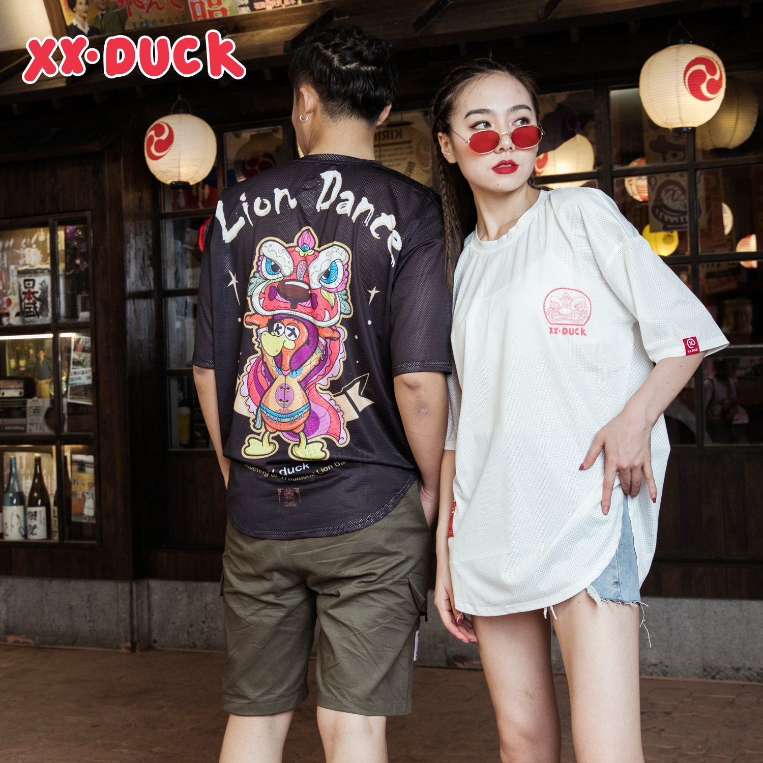 XXDUCK Web Celebrity Fashionable Short Sleeve Popular Logo Loose Student T-shirt Cartoon Lovely Duck Breathable Women's New Coup