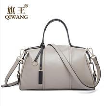 Qi Wang2016 new high-quality fashion luxury brand sheepskin fold counter genuine leather bag, famous brand women