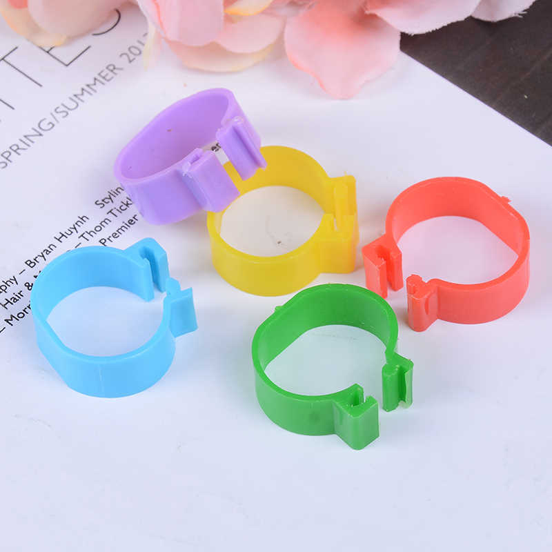 20 pcs Inside diameter 2.0 cm Chicken Ring Hen Pigeon Leg Band Poultry Dove Birds Quail Goose Chicks Duck Parrot Clip Rings
