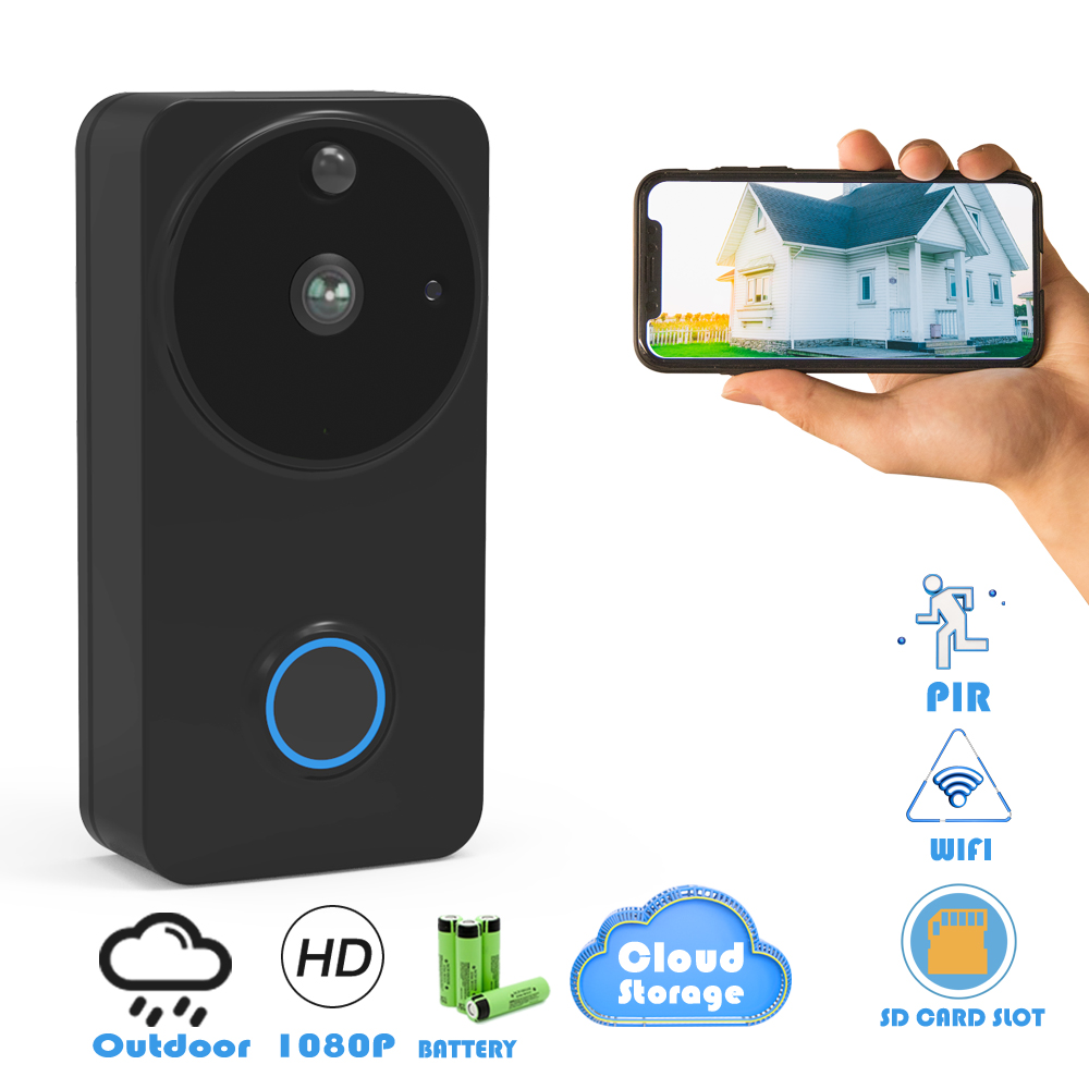 CTVMAN Wireless IP Doorbell Camera PIR Video Door Phone Battery Doorphone Intercom Security Wifi Doorbells With Ring Chime