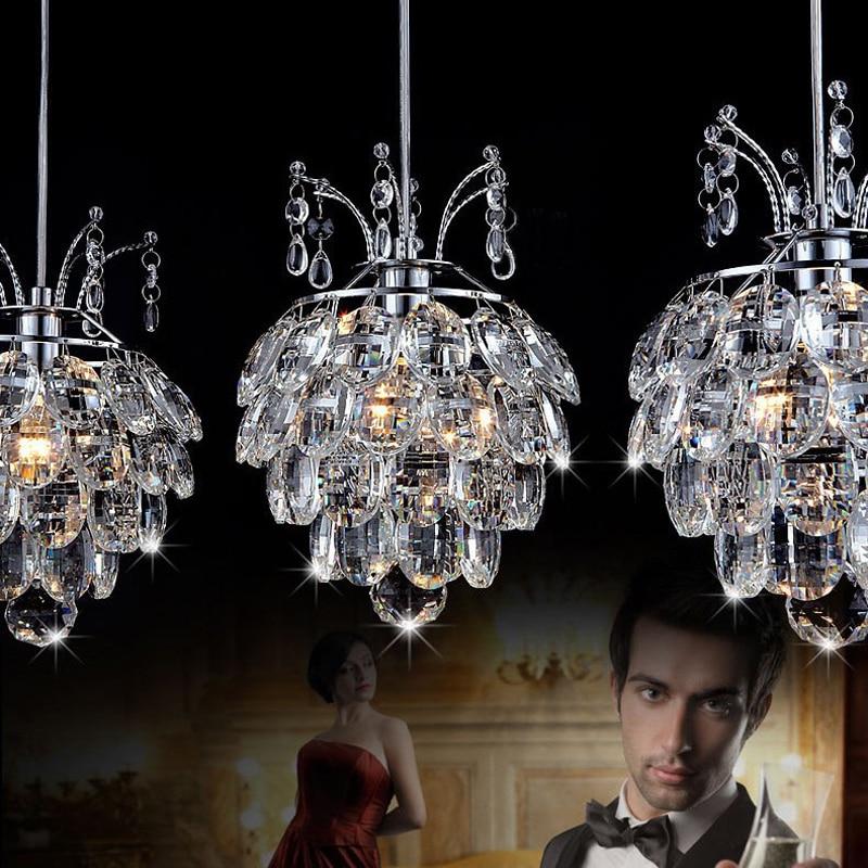 Hængelampe til spisestue Krystal vedhæng Lysophæng ledning Moderne vedhæng Lysarmaturer Moderne vedhæng Lys ledet
