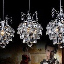 โคมไฟแขวนสำหรับห้องรับประทานอาหารคริสตัลSuspensionสายไฟจี้โมเดิร์นโคมไฟร่วมสมัยจี้ไฟLed