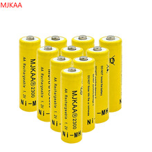 10pcs 1.2V Ni-MH AA 2300mAh Rechargeable Batteries 2A Neutral Battery Rechargeable Battery AA Batteries pisen 2300mah ni mh rechargeable aa batteries green 2 pcs