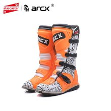 ARCX Motorcycle Boots SPEED BIKERS Mens Motocross Boots Off-Road Motorbike Shoes Motocross Riding Moto Boots Men Orange L60200