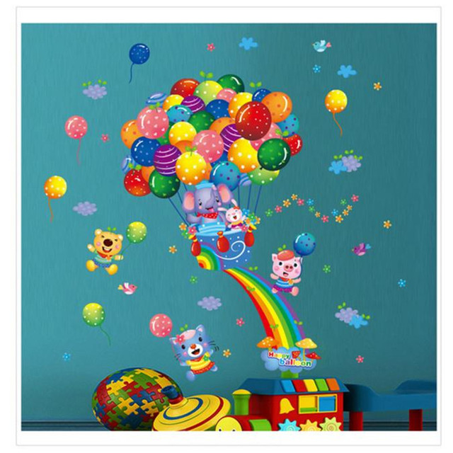 Cute Hot Air Balloon Wall Sticker