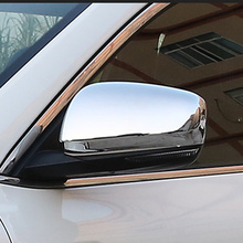 ABS Chrome/Carbon fibre For RENAULT KOLEOS 2017 2018 Door Side Rearview Mirror Case Cover Trim Car Styling accessories 2pcs