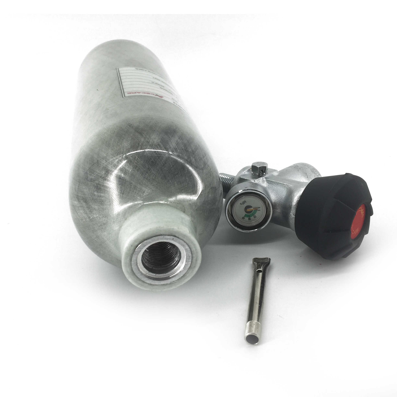 Mini tanque de submarinismo AC30111, válvula Pcp 1,1, tanque de aire Pcp 4500psi, Rifle de aire, cilindro de fibra de carbono para buceo, válvula Condor Pcp