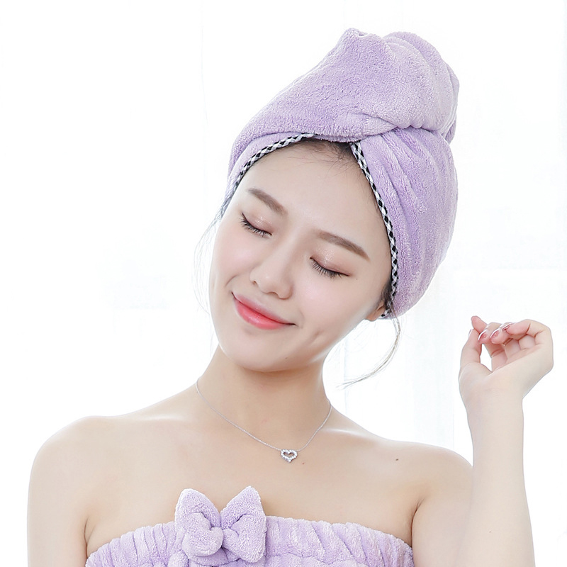 SENNLLJUNG Women Bathroom Super Absorbent Quick-drying Microfiber Bath Towel Hair Dry Cap Salon Towel 25x65cm Dry Hair Hat