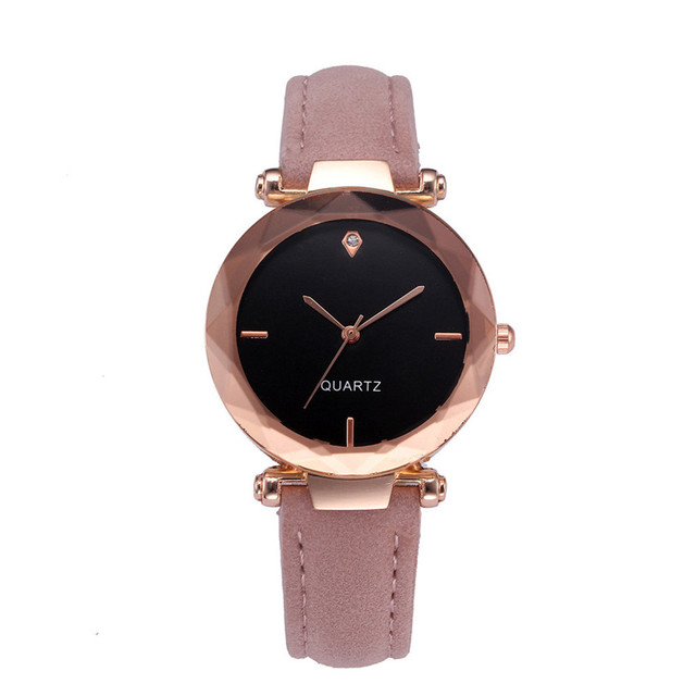 2018 Top Brand Women Bracelet Watch Contracted Leather Crystal WristWatches Wome