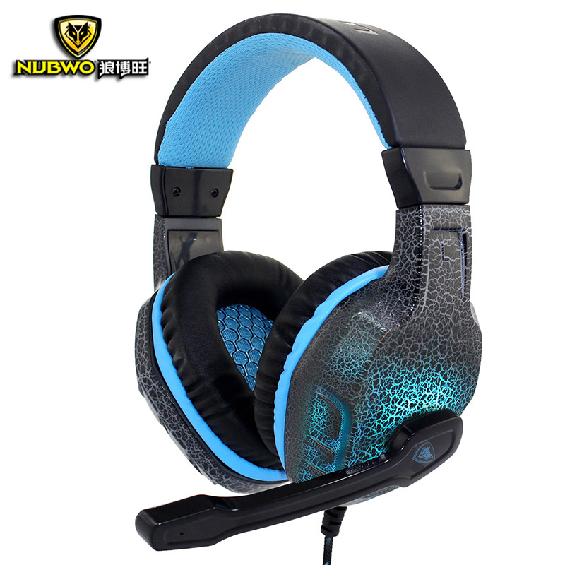 NUBWO NO-3000 Gaming Headphones LED Light Led Deep Bass Stereo Surround Headband Gaming Headsets With Microphone For PC Gamer picun c3 rose gold headphones with microphone for girls ps4 gaming headsets for apple iphone se galaxy s8 s7 a5 sony leeco asus