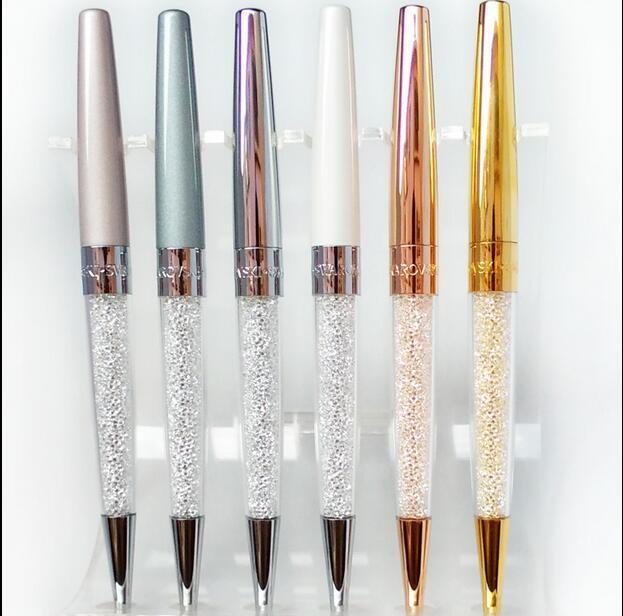 stardust pen New swarovski Crystal Pen for students Crystalline Lady  diamond Ballpoint Pen stationery wedding gift 76624c7c3