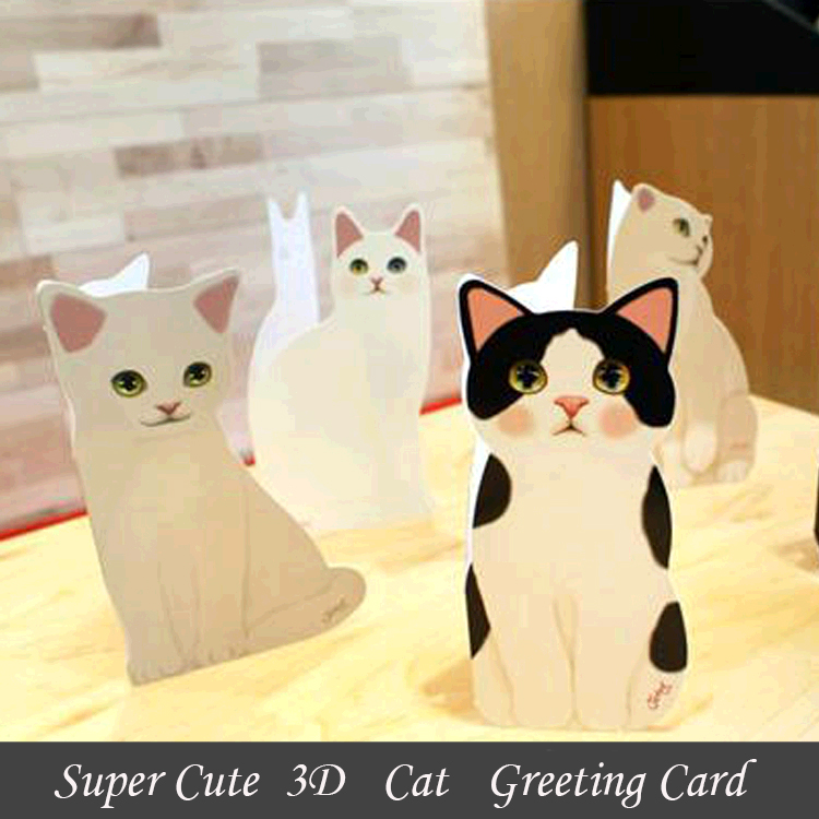 Best Price Super Cute Cat Lovely Christmas Card Greeting Card Wish ...