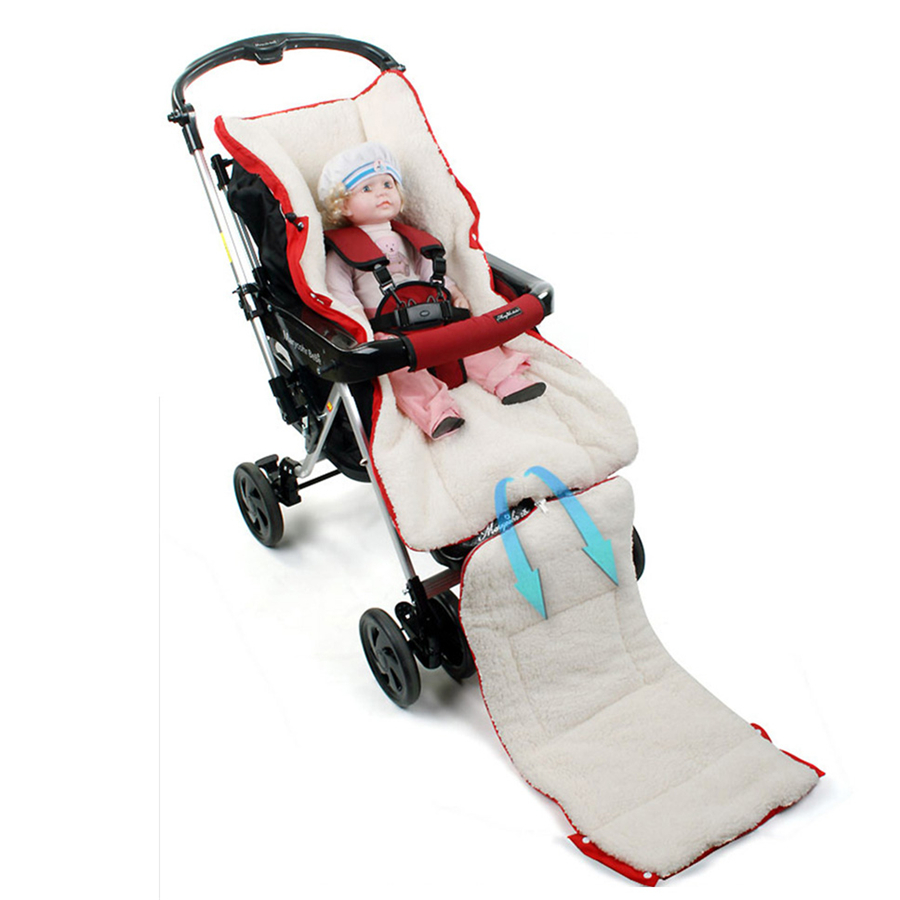 Warm Newborn Fur Baby Stroller Baby Sleeping Bag Winter