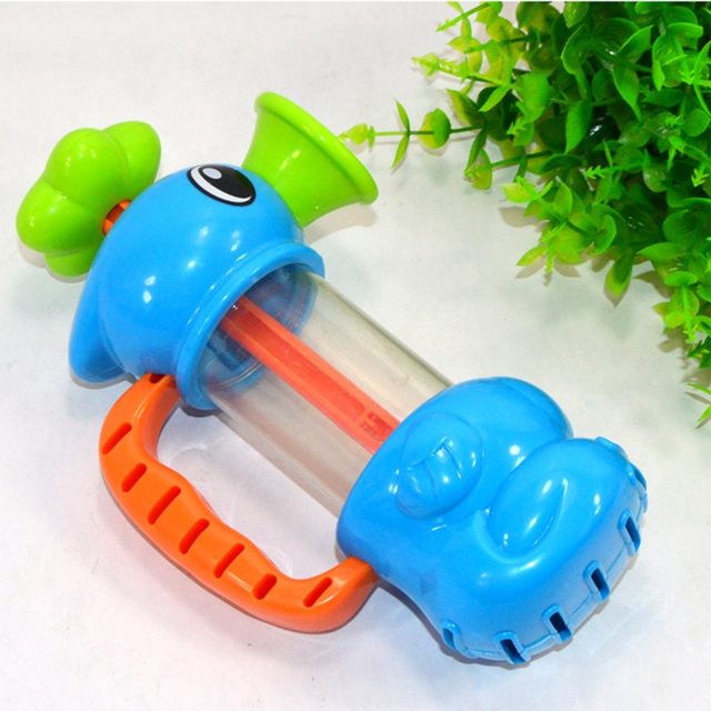 Baby Bath Water Toys Sea Horse Sprinkler Pumping Design Colourful Hippocampal Shape