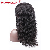 Huangcai Lace Front Human Hair Wigs For Black Women Pre Plucked Malaysian Deep Wave Wig With