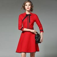 New Ladies Fashion Red Christmas Dress 2017 Vestidos Ukraine Black Women Party Dresses Winter Dresses Robe Femme Jenner