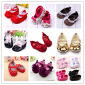 Cute Baby Girls Infant Crib Shoes Bowknot Lace Flower Soft Sole Prewalker Toddler Shoes