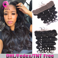 8A Brazilian Lace Frontal Closure Body Wave Virgin Human Hair Lace Frontal Free Middle Part Ear to Ear Full Lace Frontal Closure