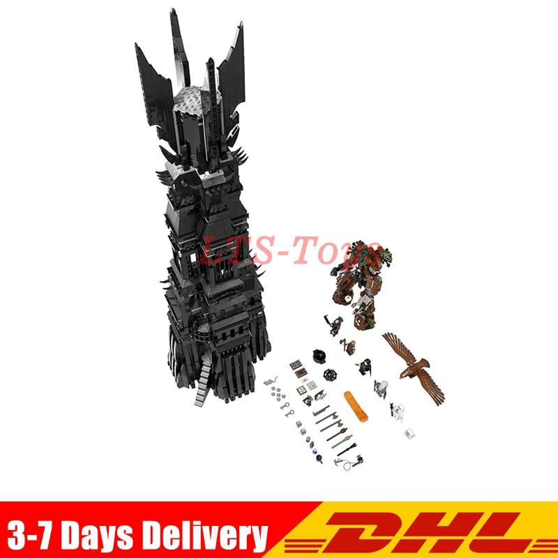 DHL Fit Legoed 10237 LEPIN 16010 2430Pcs Lord of the Rings The Tower of Orthanc Model Building Kits Set Blocks Bricks Toys Gift