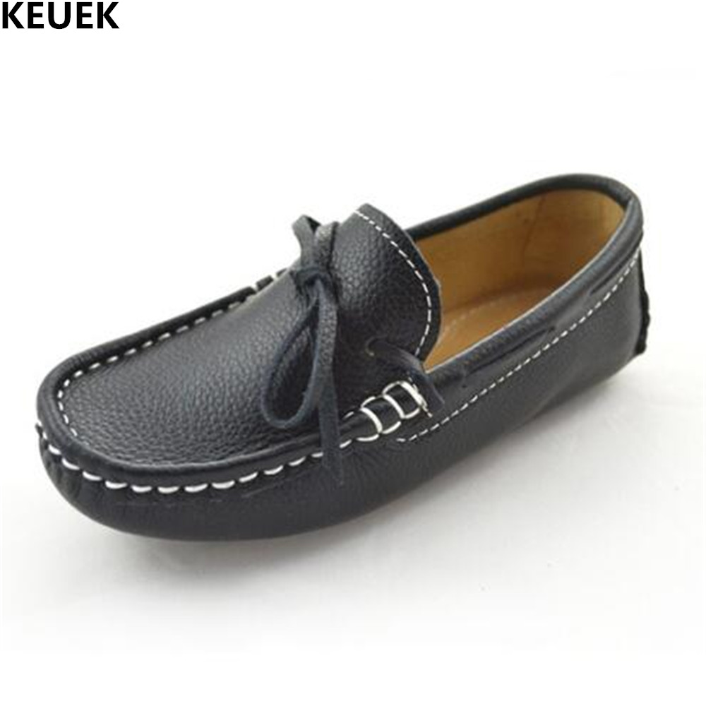 New Genuine Leather Baby Toddler Shoes Children Loafers Slip-On Student School Dress Shoes Boys Girls Shoes Kids Flats 019 2018 new genuine leather kids shoes boys mocassins fashion soft children shoes for boys girls casual flat slip on loafers