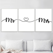 Quotes Posters And Prints Minimalist Canvas Painting Love Quote Poster Black White Wall Art Nordic Bedroom Unframed