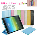 Case For Xiaomi MiPad 1 Smart On/Off PU Ultra-thin Transparent Bottom Shell 7.9-inch Silk Three-fold Stent Cover Gift Touch Pen