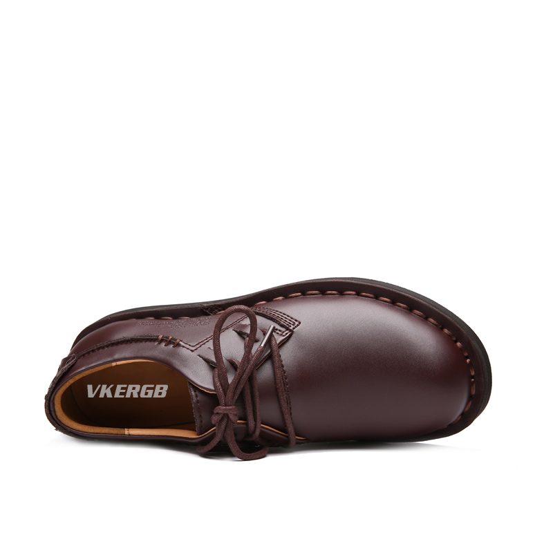 Do De Vkergb Rendas Vestem Martin Negócios Primavera Oxfords Dos Se Brown Rodada red Até Sapatos Inverno Homens Brown Pé Planas Dedo Clássico Outono PnWOSYgnU