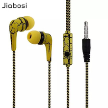 Jiabosi Ice Cracks Design Earphone Earpiece with Microphone For iPhone Samsung earbuds for xiaomi