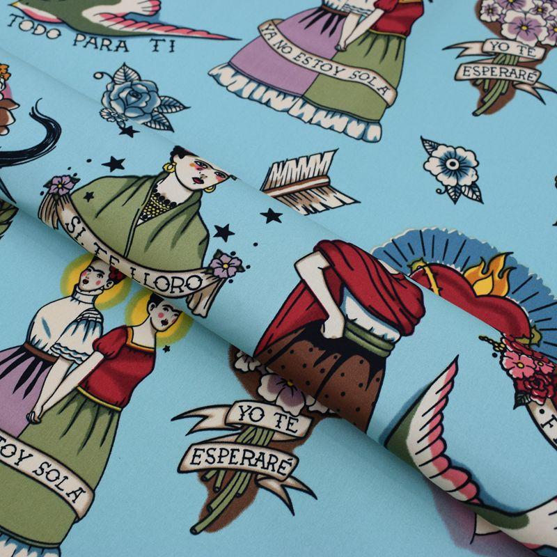 Auto-retratos tingimento reativo cetim estiramento tecido de algodão para vestido retalhos telas por metros tissu vestidos tela diy pelúcia
