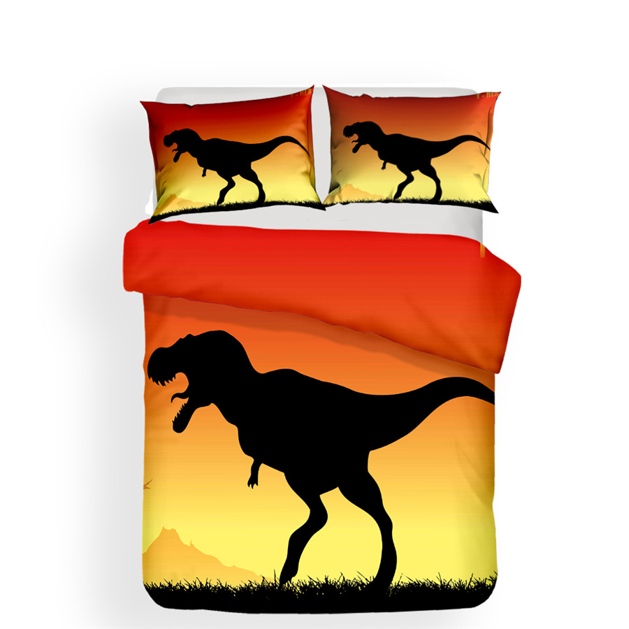 Bedding Set 3D Printed Duvet Cover Bed Set Dinosaur Home Textiles For Adults Lifelike Bedclothes With Pillowcase DG01