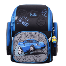 Delune 2019 3D Cartoon Owl Pattern Backpack for Girls Boys Students School Bag Childrens Orthopedic Backpacks mochila infantil