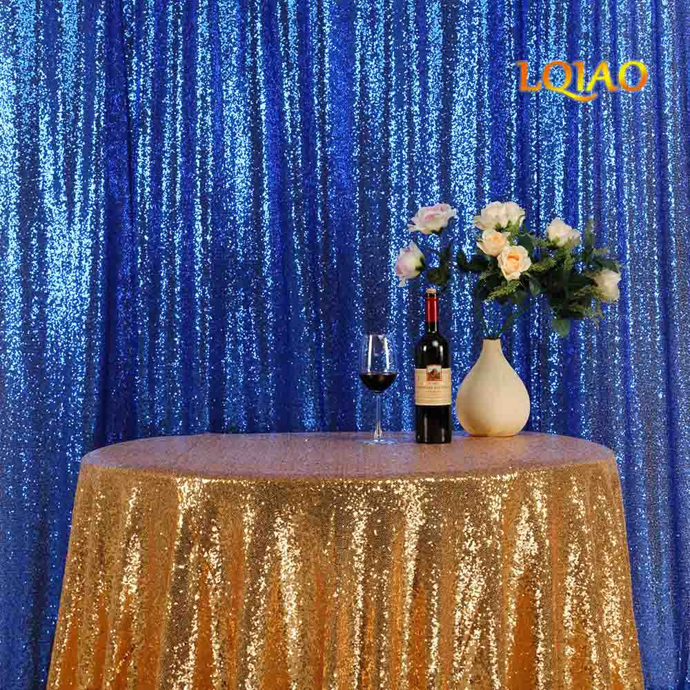 Royal Blue sequin backdrop-003