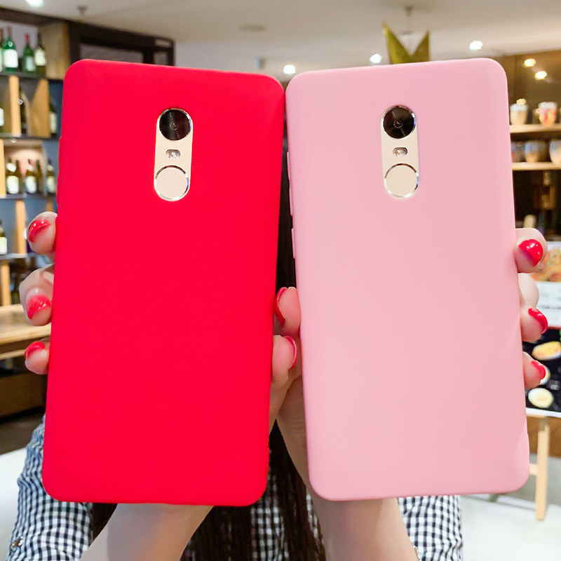 Matte TPU Cases For Xiaomi Redmi Note 5A Case Candy Frosted Color Phone Covers For Redmi Note 6 5 Pro Note 4X Redmi 4X 5A 5plus-in Fitted Cases from Cellphones & Telecommunications