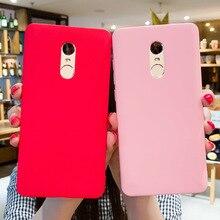 Matte TPU etui na Xiaomi Redmi uwaga 5A przypadku cukierków matowe kolor etui telefoniczne dla Redmi nocie 6 5 Pro uwaga 4X Redmi 4X 5A 5 plus