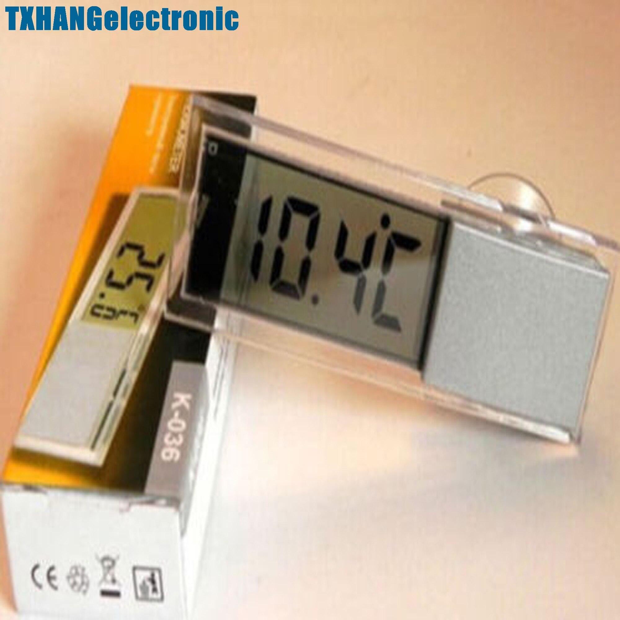 eb1b03607c902 Espelho Retrovisor Do Carro Do veículo Ventosa LCD Digital de Temperatura  Termômetro