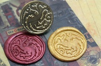 The Song Of Ice And Fire Game Of Thrones Wax Badge Seal Stamp 1 Set