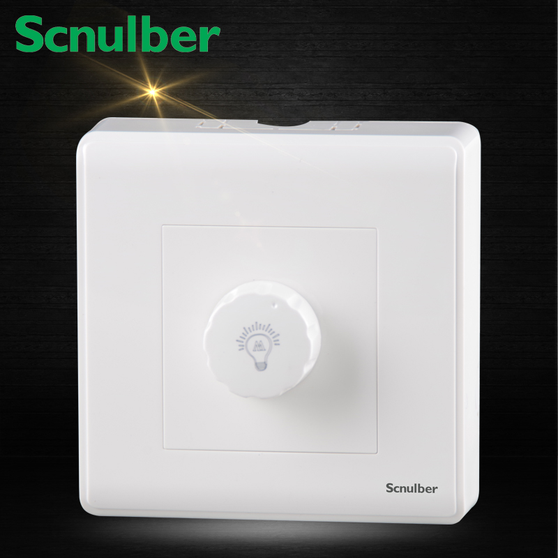 86mm white surface mount hotel light led wall Dimmer Switch