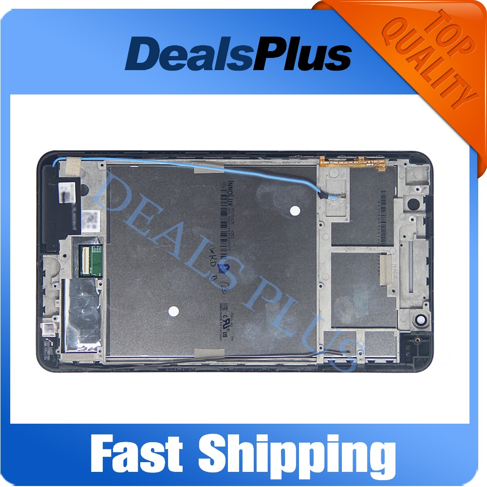 Replacement New LCD Display Touch Screen with Frame Assembly For ASUS Fonepad 7 FE171MG FE171CG FE171 Black White Free Shipping lcd screen display touch panel digitizer with frame for htc one m9 black or silver or gold free shipping
